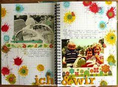 #ProjektIch Smashbook-Seite von Trudi Schlicht für www.danipeuss.de |Mein schönstes Kinderfoto