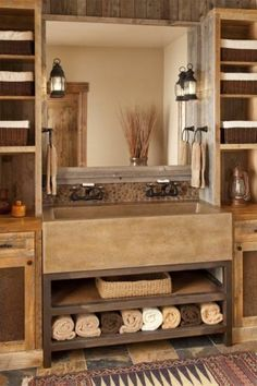 5 Graceful Cool Tips: Natural Home Decor Inspiration Color Schemes natural home decor ideas open shelves.Natural Home Decor Rustic House natural home decor rustic window.Natural Home Decor Boho Chic Rugs. Decor, Traditional Bathroom, Rustic House, Sweet Home, Bathroom Decor, House Bathroom, Cabin Bathrooms, Rustic Bathrooms, Home Decor