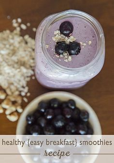 Healthy Breakfast Smoothies from @Amy Lee @ TheConnectionWeShareBlog