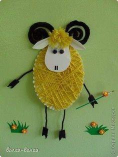 Velikonoce - vv, pč – Lucie Surovcová – album na Rajčeti Easter Art, Easter Crafts For Kids, Diy For Kids, School Art Projects, Projects For Kids, Sheep Cards, Eid Cards, Diy And Crafts, Paper Crafts
