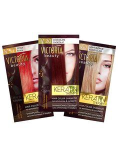 Sampon nuantator cu keratina Keratin Therapy - 40 ml - Cea mai accesibila si mai comoda metoda de improspatare a culorii. Culoarea se mentine 4-8 spalari. Lasati produsul sa actioneze 20 de minute pentru o culoare ce rezista pana la 4-5 spalari, sau 45 de minute pentru o culoare ce rezista pana la 8 spalari. Nu contine amoniac sau oxidanti. Victoria Beauty, Color Shampoo, Light Blonde, Keratin, Therapy, Hair Color, Haircolor, Hair Dye, Healing