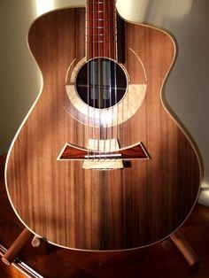 DK Guitars – The Concertino. Guitar Inlay, Guitar Art, Music Guitar, Cool Guitar, Custom Acoustic Guitars, Custom Guitars, Archtop Guitar, Fender Stratocaster, Ukelele