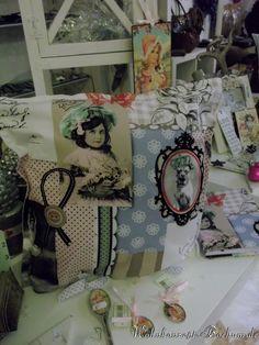 Kissen und Kalenderhülle im Vintage-Style
