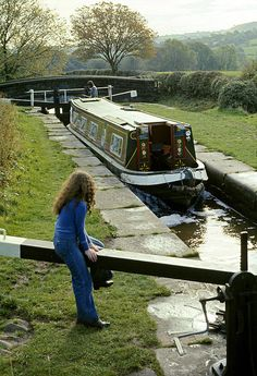 Narrow Canal Lock Uk 1975 ©David Davies