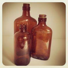 refind joy | amber bottles