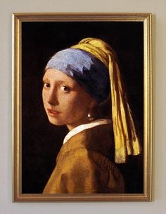 Johannes Vermeer 'Girl with a Pearl Earring' Gallery-wrapped Canvas - Overstock™ Shopping - Top Rated ArtWall Prints Johannes Vermeer, Delft, Tracy Chevalier, Collages, Girl With Pearl Earring, Vermeer Paintings, Toile Photo, Canvas Wall Art, Canvas Prints