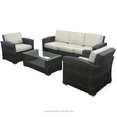 I love BuildDirect: Patio Furniture Patio Furniture   Monte Carlo Series  4 Piece Conversation Set! #FindItKeepIt