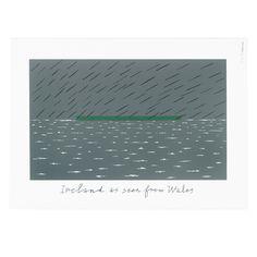 Screen print: Ireland as seen from Wales   Alan Fletcher