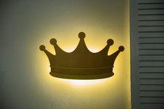 Crown Wall Light Diadem Decor Nursery Lighting Crown LED Night | Etsy Cloud Night Light, Nursery Night Light, Water Based Acrylic Paint, Childrens Bedroom Decor, Nursery Lighting, Night Lamps, Bedside Lamp, White Light, Wall Lights