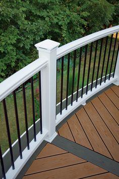 Trex transcend composite deck railing trex deck for Composite decking colors available