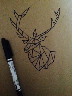 Drawing deer geometric
