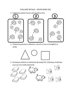 FISE de evaluare initiala Grupa Mare | Fise de lucru - gradinita Kindergarten Math Worksheets, Classroom Activities, Emotions Preschool, Romanian Language, Paper Trail, Montessori Toddler, Thing 1, Teaching, Geo