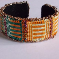 craftsy tapestry | Tapestry Bead Cuff Bracelet