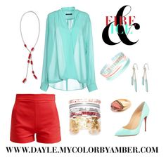 CBA Fire and Ice by dayle-burton on Polyvore featuring Color By Amber, TRY ME and Christian Louboutin Accessories at dayle.mycolorbyamber.com