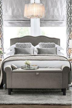 Buy Delilah Vintage Bed from the Next UK online shop Grey Bedding, Bedding Sets, Master Bedroom, Bedroom Decor, Bedroom Ideas, Country Style Furniture, Beds Uk, Superking Bed, King Beds