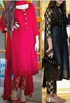 Pakistani Dress Design, Pakistani Dresses, Indian Dresses, Indian Outfits, Types Of Dresses, Nice Dresses, Casual Dresses, Fashion Dresses, Winter Dresses