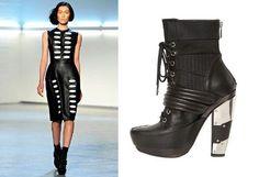 FASHION BUG MIRROR HEEL COMBAT BOOTS www.fashionbug.us