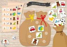 Math For Kids, Games For Kids, Activities For Kids, Kindergarten, Bags Game, Counting Games, Free Frames, Bulletins, Saint Nicholas