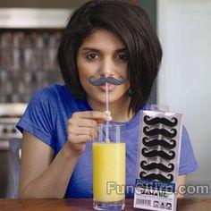 Mustache Straws :D
