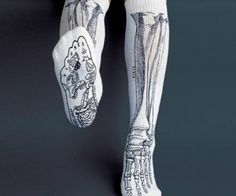 Anatomically Correct Bone Socks( $17.94 ) :  Great for medical or massage students!