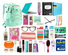 """Whats in my Backpack?!?!?!"" by elizabethjamesw ❤ liked on Polyvore featuring Speck, Vision, Lilly Pulitzer, Sephora Collection, Goody, Linda Farrow Luxe, Kate Spade, Splendid, Tervis and Beats by Dr. Dre"