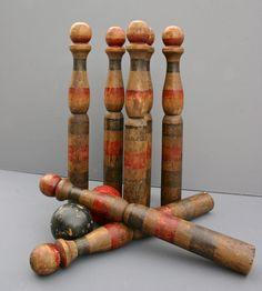 Vintage Wood Bowling Pins – Set of 8 | Collections Vintage Finds | Fanshawe Blaine | Scoutmob Shoppe | Product Detail