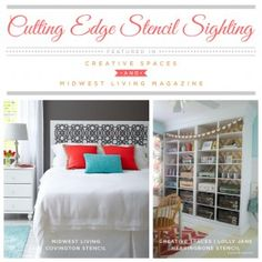 Stencil Sighting in Creative Spaces and Midwest Living Magazine