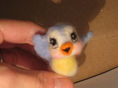 Needle felted Bluebird of Happiness by MelaniesMenagerie on Etsy, $23.00