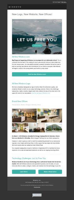 Mindovo newsletter made with MailerLite