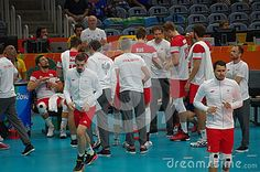Men's volleyball Polish National team at Rio2016 Summer Olympic Games in Rio de Janeiro, Brazil. Picture taken Aug 11, 2016
