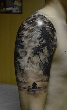 oneway sail skull tattoo