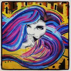 BEAUTIFUL WOMAN & CASSETTE HEAD. Bogota, Colombia. 2012.