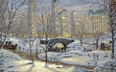 Central Park in NYC, Christmas Card