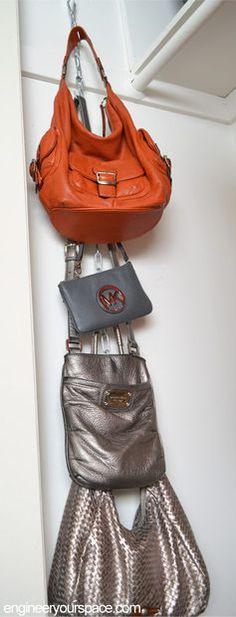 Hanging Purse Organizer #storage #accessories #organization