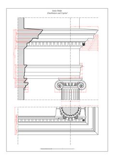 Ionic Entablature and Capital