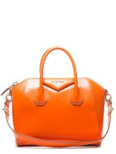 Givenchy Orange Leather Small Antigona Bag $1600