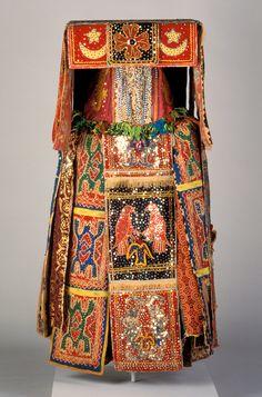 Egungun masquerade costume, 20th century, Yoruba peoples, Benin.