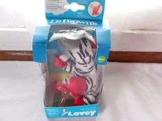 Dr Brown's Silicone Pacifier Zoey Zebra Holder Lovey Teether #DrBrowns #Everyday