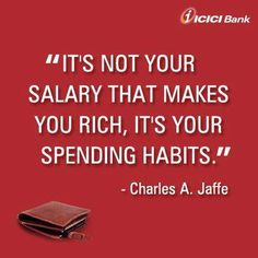 salary that makes you rich, it's your spending habits - So true - write it on your forehead. Well, maybe on a paper that you paperclip around your money/CC/debit cards inside your wallet. Anything that will make you slow it down on the outflow of money! Small Business Bookkeeping, Bookkeeping And Accounting, Small Business Accounting, Accounting Services, Inspirational Quotes About Success, Inspirational Message, Money Plan, Earn Money, Investing Money