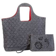 Laser Cut Felt Tote with Cosmetic Case - The Mad Style Collection - Events