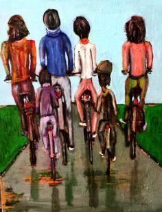 "Bild-Titel ""cycling""                                                 Format:100x80 cm"
