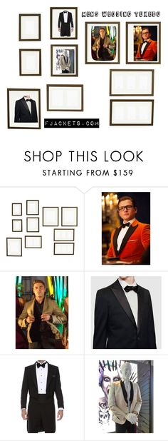 """""""Mens Wedding Tuxedo"""" by fjackets on Polyvore featuring Pottery Barn, jared, men's fashion and menswear"""