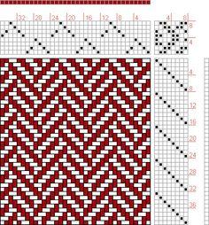 Hand Weaving Draft: 12033, 2500 Armature - Intreccio Per Tessuti Di Lana, Cotone, Rayon, Seta - Eugenio Poma, 8S, 8T - Handweaving.net Hand Weaving and Draft Archive