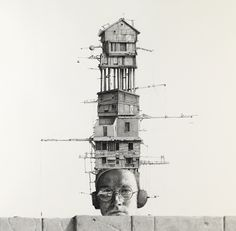 from visible certainty; Ethan Murrow - Série Doppler Doppelganger - All Mine. Crayon sur papier, 91x91 cm (2011)