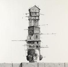 Ethan Murrow - Série Doppler Doppelganger - All Mine. Crayon sur papier, 91x91 cm (2011)