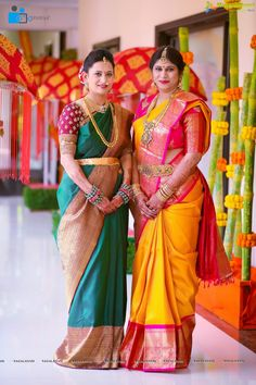 Photos - Half Saree Function of Hiya - Daughter of Famous Jewellery Designer Swetha Reddy - Image 1024 Indian Bridal Sarees, Bridal Silk Saree, Indian Bridal Fashion, Indian Beauty Saree, Saree Wedding, Wedding Wear, Wedding Bells, Kerala Saree Blouse Designs, Wedding Saree Blouse Designs