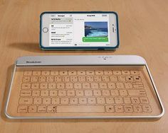 The Portable Bluetooth Keyboard Boasts Aluminum and Tempered Glass Construction