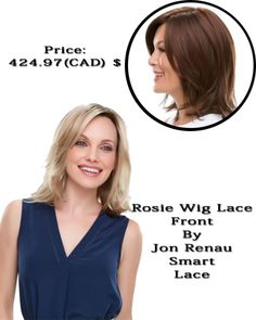Rosie #wig - #lace front Price: 424.97 (CAD) $ #wigscanada   #wig   #humanhairwig   #hairextensions  #lace  http://www.hairandbeautycanada.ca/rosie-wig-lace-front-wig-Canada/