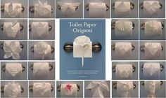 Toilet Paper Origami--I actually did this once at someone's house.  I don't know if they ever noticed.
