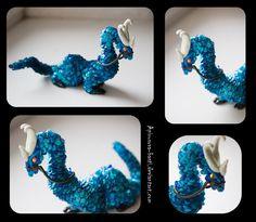 Cyan dragon 2_12 by Apirusova-Basti on DeviantArt #Dragon #Sculpt